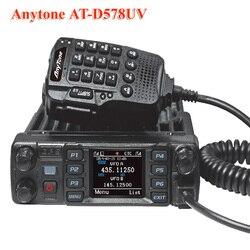 Anytone AT-D578UV DMR y de Radio analógica 50W banda Dual 136-174 y 400-470mhz walkie talkie con GPS APRS Bluetooth DMR Radio de coche