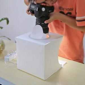 Image 3 - Led Mini Lightbox ผลิตภัณฑ์ยิงกล่องไฟใช้ Photo สตูดิโอถ่ายภาพ Softbox กล่องภาพพื้นหลังสำหรับ DSLR โทรศัพท์