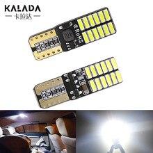 2x canbus t10 w5w 194 501 carro lampada led 6000k branco super brilhante luz da placa de licença para lampada