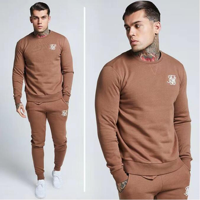 2019 Men's Fashion Kanye West Sik Silk Men's Printed Casual Sweatpants Gyms Fitness Jogging Pants 85% Cotton