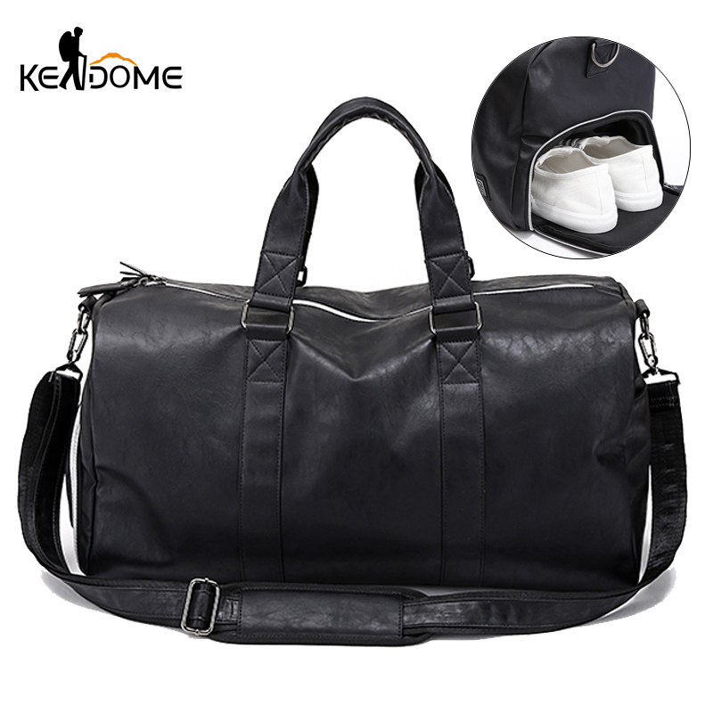 Men Gym Bag Leather Sports Bags Big Male Training Handbag For Shoes Lady Fitness Travel Luggage Shoulder Tas Sac De Sport XA74D