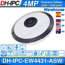 Dahua IPC EW4431 ASW 4MP Panorama POE WIFI 360 Fisheye caméra IP intégré micro fente pour carte SD Interface dalarme Audio