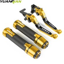 Motorcycle CNC Brake Clutch Levers Handlebar grip Handle Hand Grips For YAMAHA N-MAX NMAX 155 125 NMAX155 NMAX125 2015-2017 for yamaha nmax 155 125 nmax155 nmax125 n max n max 155 125 motorcycle cnc adjustable folding extendable brake clutch levers