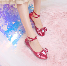 cute candy kawaii shoes loli cosplay kawaii girl Sweet princess lolita shoes vintage round head flat bottom women shoes(China)