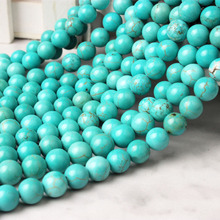 LingXiang  Fashion natural jewelry Blue Turquoises stone loose beads 6 8 10 mm DIY bracelet necklace earring accessories