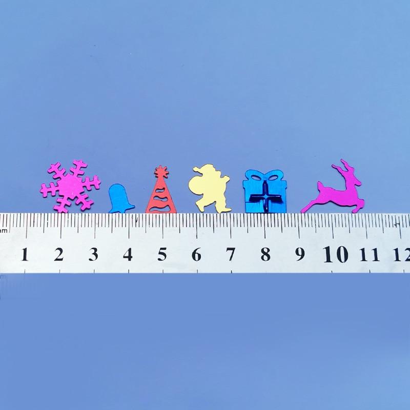 Купить с кэшбэком QIAOQIAO DIY Christmas/Elk/15 grams Sequins PVC Flat for DIY Card Making Craft Color Collection
