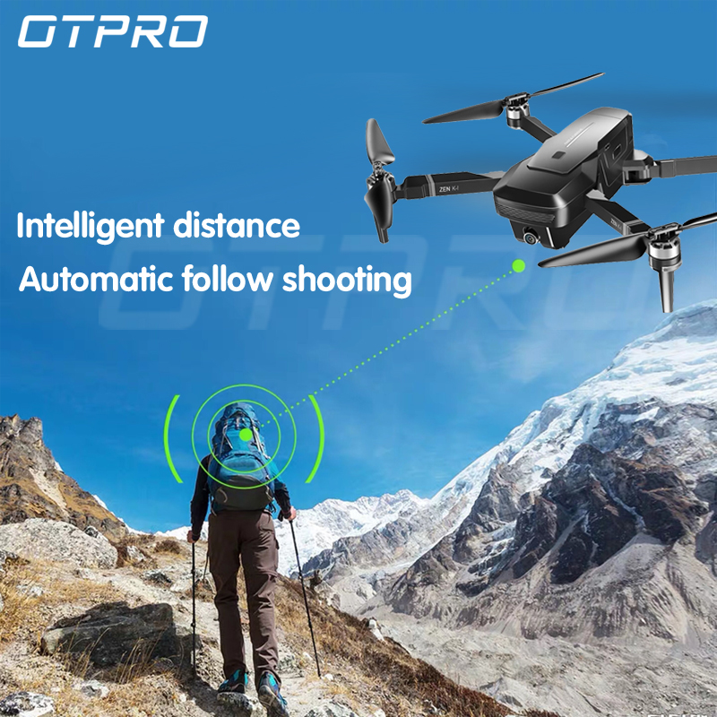 OTPRO DRONE Quadcopter With 1080P Wifi GPS 5MP Camera BRUSHLESS MOTOR Helicopter Retorno Auto RC Drones 4k Mini Dron Vs SG906