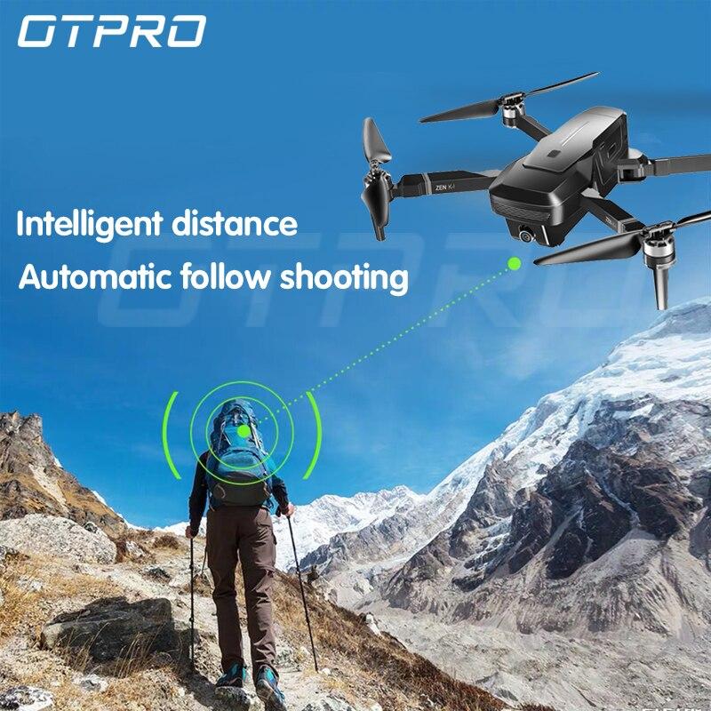 OTPRO DRONE quadrirotor avec 1080P Wifi GPS 5MP caméra moteur sans brosse hélicoptère Retorno Auto RC drones 4k mini dron vs SG906