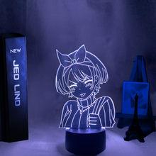 Lampada 3d Anime noleggia una fidanzata Sarashina Ruka luce notturna per bambini camera da letto Decor regalo di compleanno Manga Kanojo Okarishimasu lampada