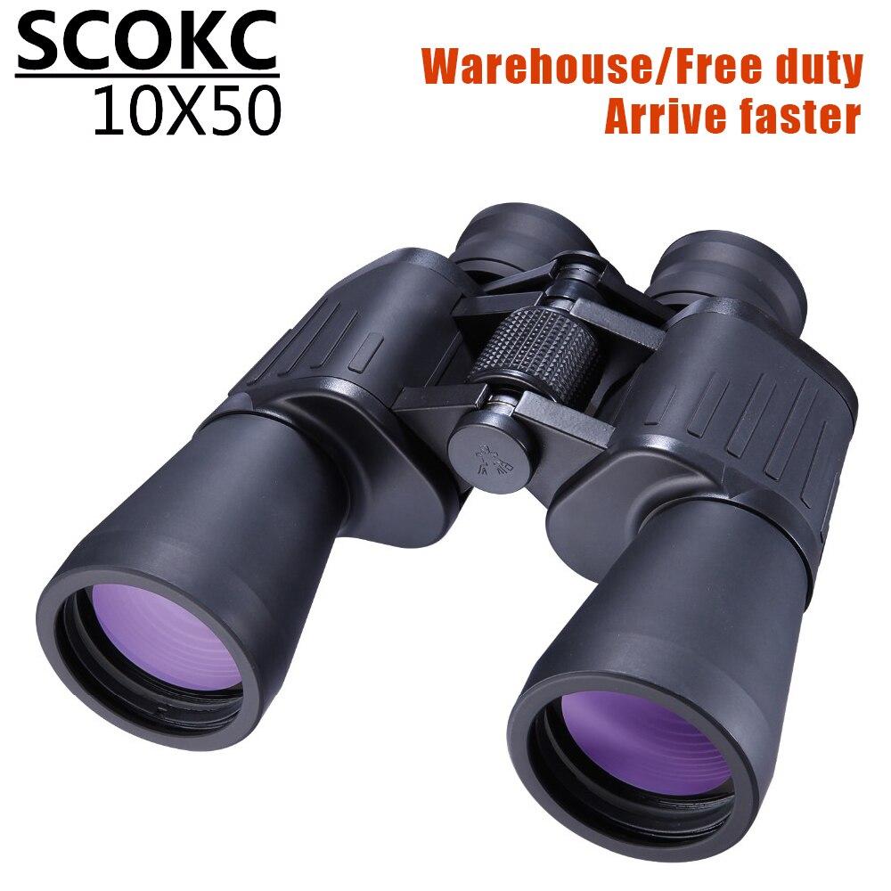 SCOKC Hd 10X50 puissant zoom jumelles télescope pour la chasse professionnel de haute qualité pas d'armée infrarouge basse vision nocturne