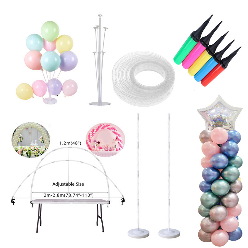 Ballons Accessories Balloon Arch Balloon Chain Stick Birthday Balloons Pump Inflatable Tube Baby shower Wedding Party Supplies