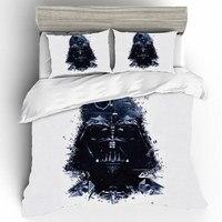 Fronhas de cama star wars 3d casa têxtil qualidade qualificado algodão única rainha king size conjunto cama capa edredão lençóis