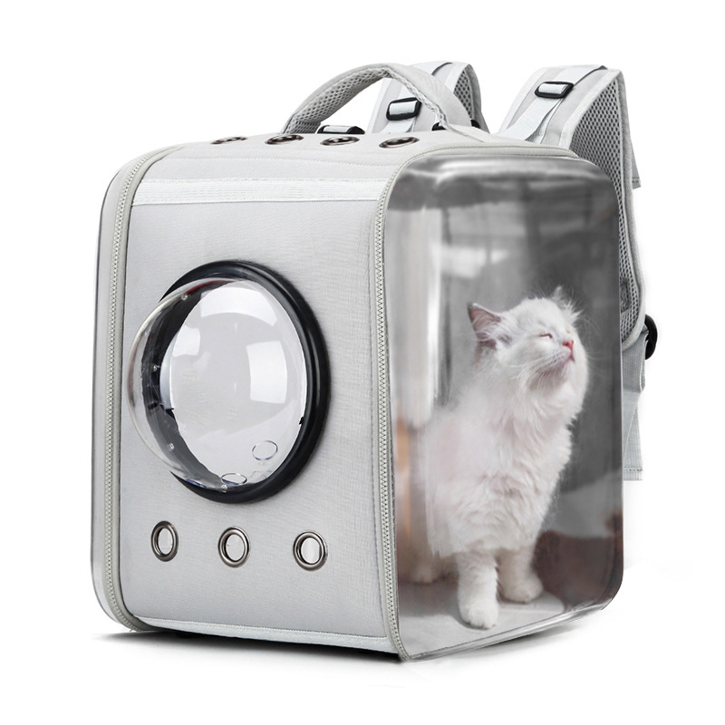 Transparent Pet Carrier Bag in Foldable Space Capsule Design with Anti Lost Hook for Dogs and Cats