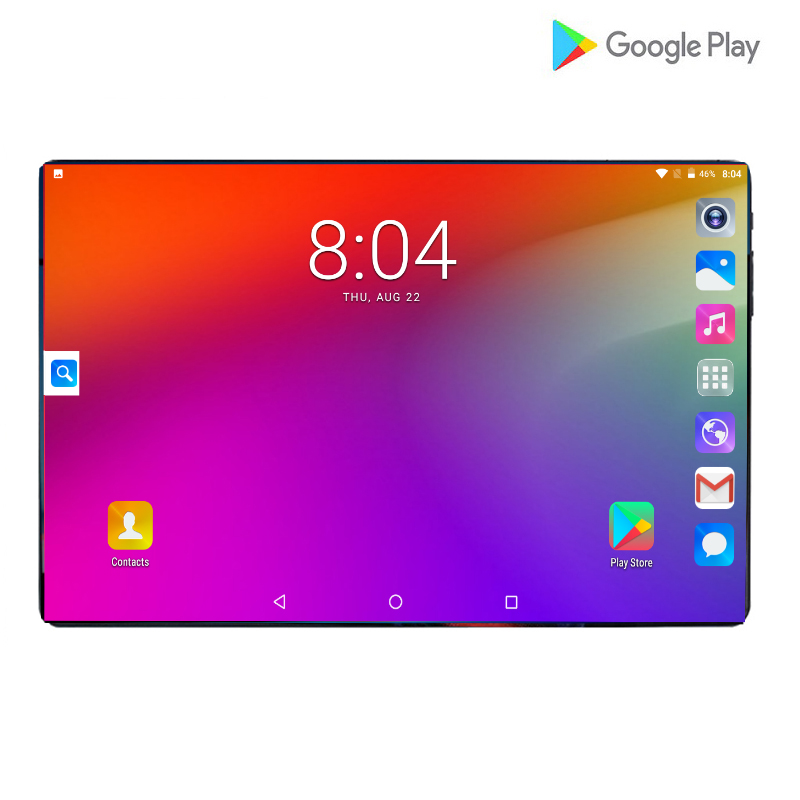 2019 Gooigle Tablets Octa Core Android 9.0 6000mAh Battery 6GB+64GB 10inch 1280x800 IPS Screen Dual AI Camera 8MP GPS Pad 10.1