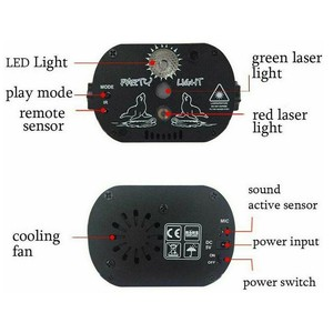 Image 3 - WAKYME Mini RGB Disco Licht DJ Lichter in Bühne Lichteffekte Sterne Whirlwind Laser Projektor Club Bar Party Licht 60 muster
