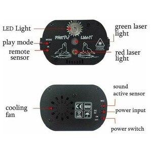 Image 3 - Wakyme Mini Rgb Disco Licht Dj Verlichting In Podium Lichteffecten Ster Whirlwind Laser Projector Club Bar Party Licht 60 patroon