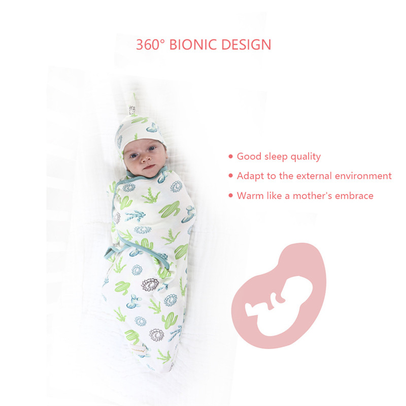 Baby Boys Girls Blanket Wrap Cotton Soft Baby Swaddle Sleeping Bag for 0 6 Months Newborns Baby Bedding Infant Receiving Blanket