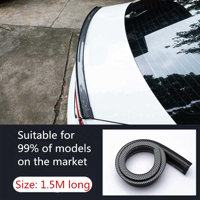 Universal Car spoiler 5D Carbon Fiber DIY Refit spoiler For Volkswagen VW Golf 4 6 7 GTI Tiguan Passat B5 B6 CC Jetta MK5 Polo(China)