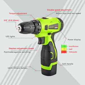 Image 2 - YIKODA 16.8V Cordless Drill Double Speed Lithium Battery Household Rechargeable Electric Screwdriver Power Tools