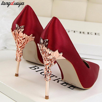 Ladies High Heels Women Shoes Pumps High Heel Stiletto Sexy Wedding Shoes Woman 2020 party Pumps pink Red tacones mujer 2020 high heels shoes pumps quality shoes flower crystal rhinestone satin wedding shoes woman pumps thin heel shoes ladies shoes