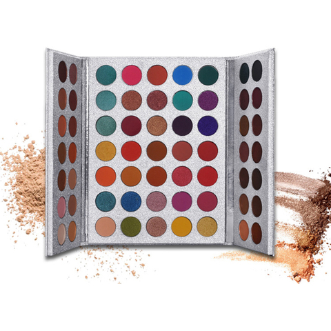 paletas profissionais da sombra da composicao 63 cores matte e shimmer pigmento sombra