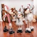Рождественские фигурки с оленями, украшения для новогодней и новогодней елки, рождественские украшения с оленями для дома