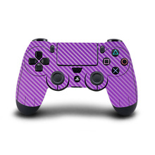 Sticker PS4 Controller Skin Carbon fiber Stickers Vinyl Decal Cover for Sony PlayStation 4 DualShock 4 Wireless Controllers