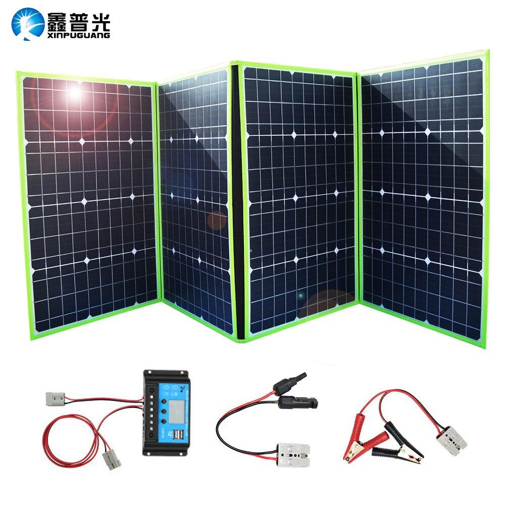 XINPUGUANG 200W Chargeur solaire portable 20V Générateur de panneau solaire pliable avec contrôleur de charge pour Batterie Camping Travel RV Outdoor