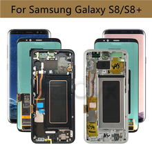 For SAMSUNG Galaxy S8 LCD Display Touch Screen G950 LCD Digitizer Assembly For Samsung S8+ G955 Replacement with Burn Shadow