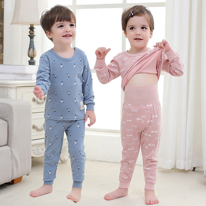 Cartoon Kids   Pajamas     Sets   Cotton Boys Sleepwear Suit Baby Toddler Girl   Pajamas   Long Sleeve Tops+Pants 2pcs Children Clothing