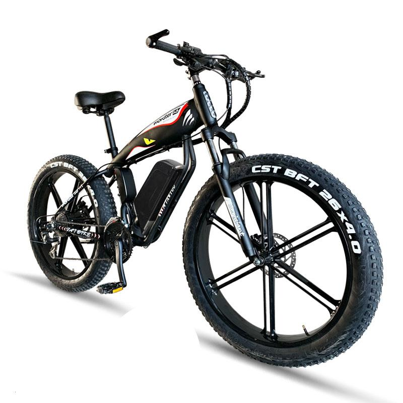 Electric Motorcycle For Adult 26'' Two Wheel Electric Bicycle Fat 4.0 Tries Snow Beach 48V Electric Scooter 400W|Electric Bicycle|   - title=