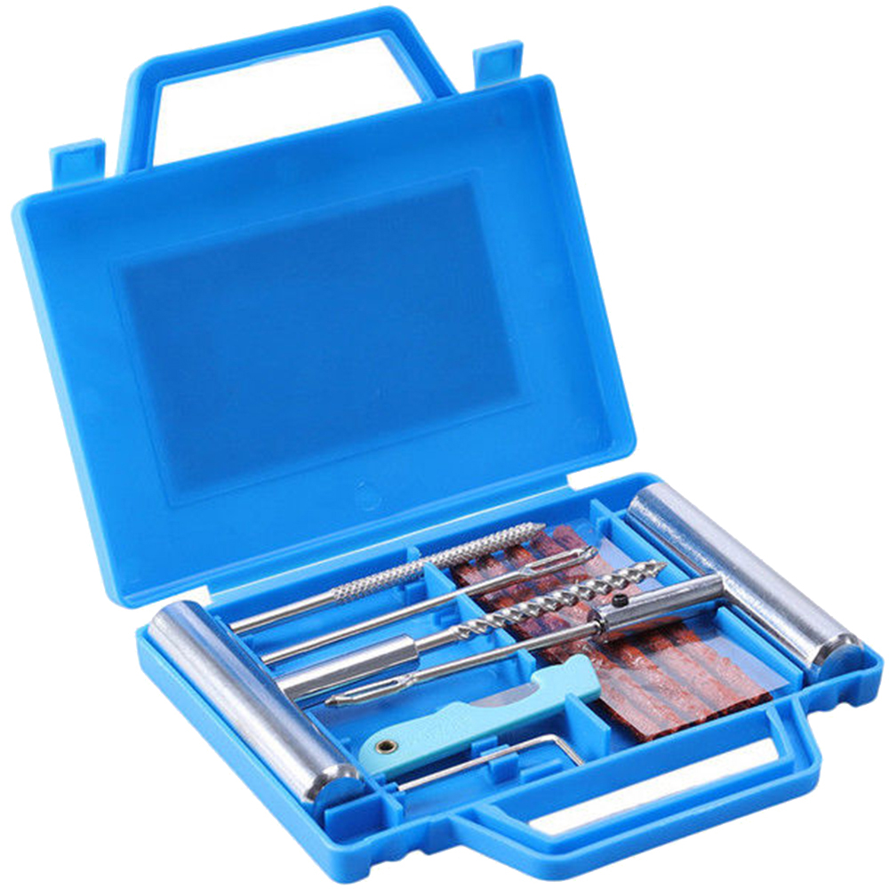 Mending 11pcs Tire Repair Kit Motorcycle Heavy Duty Tubeless Wheel Flat Car Tire Repair Kit