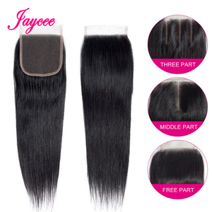 Image 3 - Jaycee Malaysian Straight Hair Bundles With Closure Remy Human Hair Maylasian Hair With Closure 3 Bundles with Closure