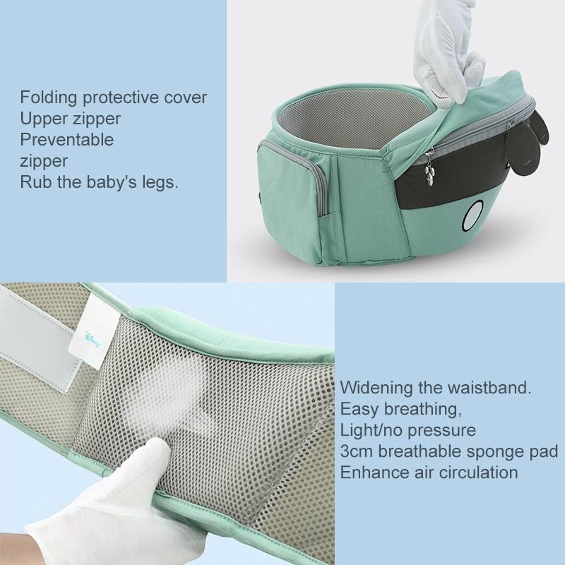 Clearance SaleDisney Baby Carrier Sling-Backpack Wrap Hipseat Front-Facing Comfortable Infant 20kg