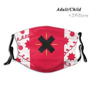 Cherry Bomb Bag Reusable Face Mask Washable Pm2.5 Fashion Hazbin Hotel Happy Demon Spider Alestor Alstor