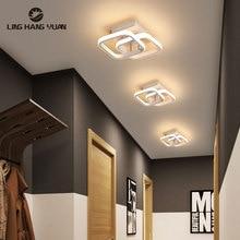 18W Luminaires Modern Led Ceiling Light For Home Black&White Ceiling Lamp Corridor Light Living room Bedroom Lighting Fixtures