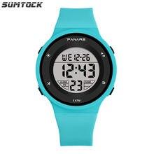 Sumtock спортивные цифровые часы для студентов обувь мальчиков