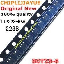 10 pces TTP223-BA6 ttp223 sot-23 223b SOT23-6 sot smd novo e original ic chipset