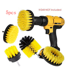 3&5Pcs Power Scrubber Brush Set for Bathroom Drill Brushes Cordless Attachment Kit Toilet Electric Cleaning