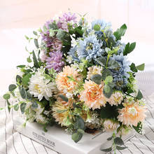 1 bunch of Gerbera high quality silk Camellia artificial flowers home Wedding Garden Party Decoration DIY cheap