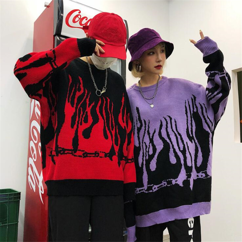 NAGRI Autumn Winter Hip Hop Sweaters Harajuku Design Loose Batwing Sleeve Pullovers Knitted Sweaters Women Men Clothing Tops