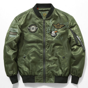 Eua bandeira do exército ma1 bombardeiro jaquetas homens anjos azuis voando tigres força aérea piloto casacos blusão hip hop homem pano dropshipping