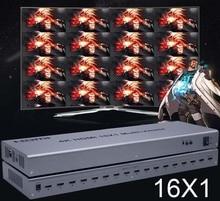 محول متعدد المشاهد بشاشة عرض عالية الوضوح 4K HDMI 16x1 متعدد المشاهد محول 16 في 1 خارج سلس التبديل متعدد المشاهد صورة شاشة مقسم HDTV
