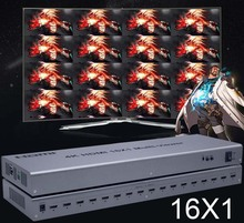 4K Hdmi 16X1 Quad Multiviewer Switcher 16 In 1 Out Naadloze Switch Multi Viewer Picture Screen Divider hdtv Display Converter