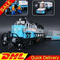 LP 21006 1234Pcs Genuine Technic Ultimate Series The Maersk Train Set Building Blocks Bricks leleings Toys Clone 10219