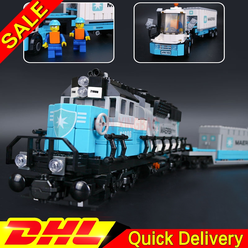 LP 21006 1234Pcs Genuine Technic Ultimate Series The Maersk Train Set Building Blocks Bricks Leleings Toys Clone 10219