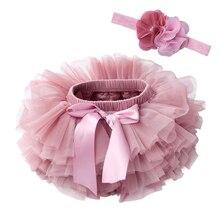 Skirts Headband Bloomers Short Diapers Flower Newborn Tutu Tulle Photograph Baby-Girls