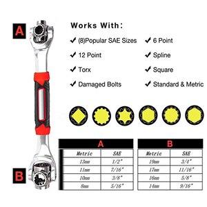 Image 2 - Kalaidun conjunto de chaves de torque, conjunto universal de chaves, multifuncional, chave de catraca, ferramentas manuais 48 em 1, parafusos ranhurados, móveis torx, carro reparo de reparo