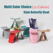 Northern Europe Wooden ottoman Shoes stool Sori Yanagi Style Butterfly Stool Originality household Multi Color Low stool