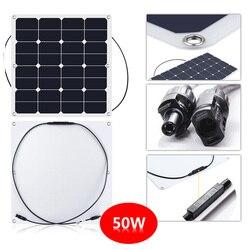 mono semi- flexible 50w solar sunpower panel with high efficiency solar cell factory price